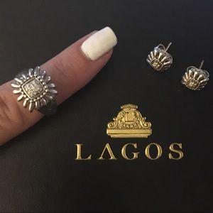 Lagos pret-a-porter daisy diamond silver ring new